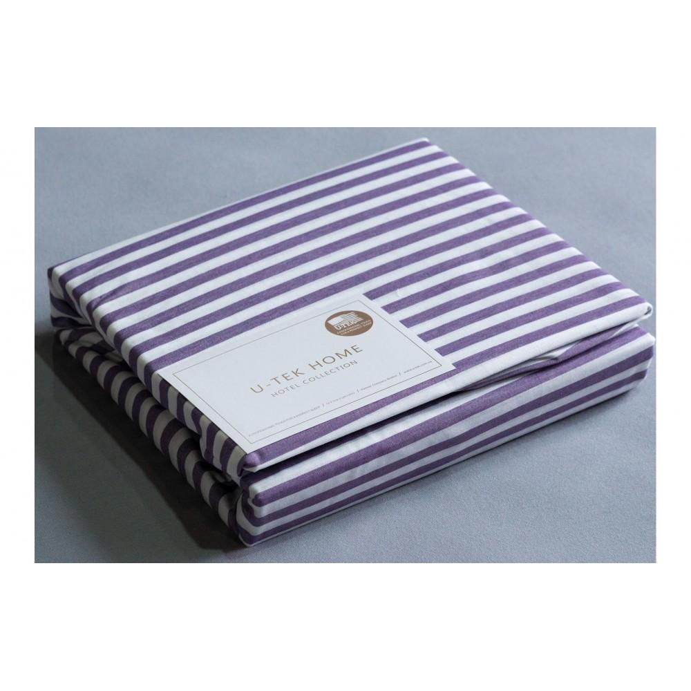 Наволочка U-TEK Hotel Collection Cotton Stripe Plum 30