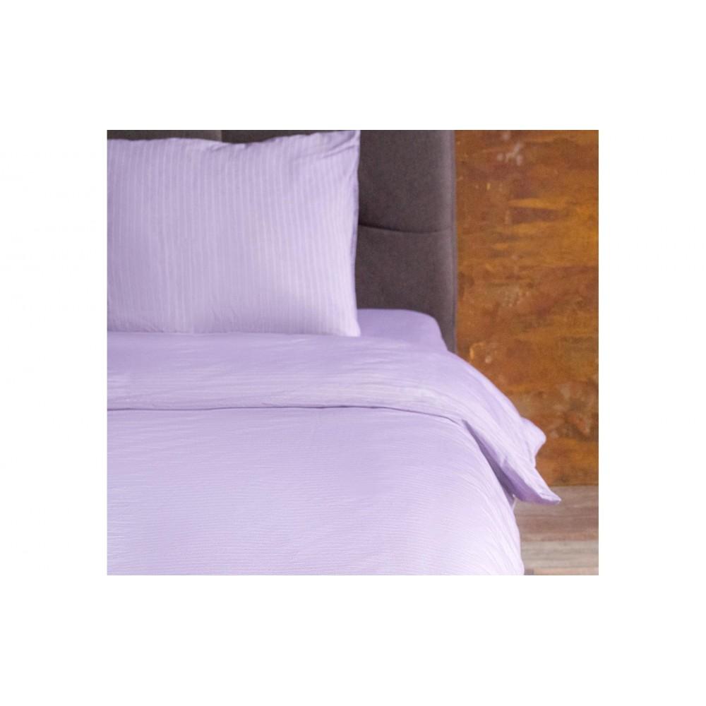 Пододеяльник Hotel Collection Cotton Stripe Plum-White U-TEK