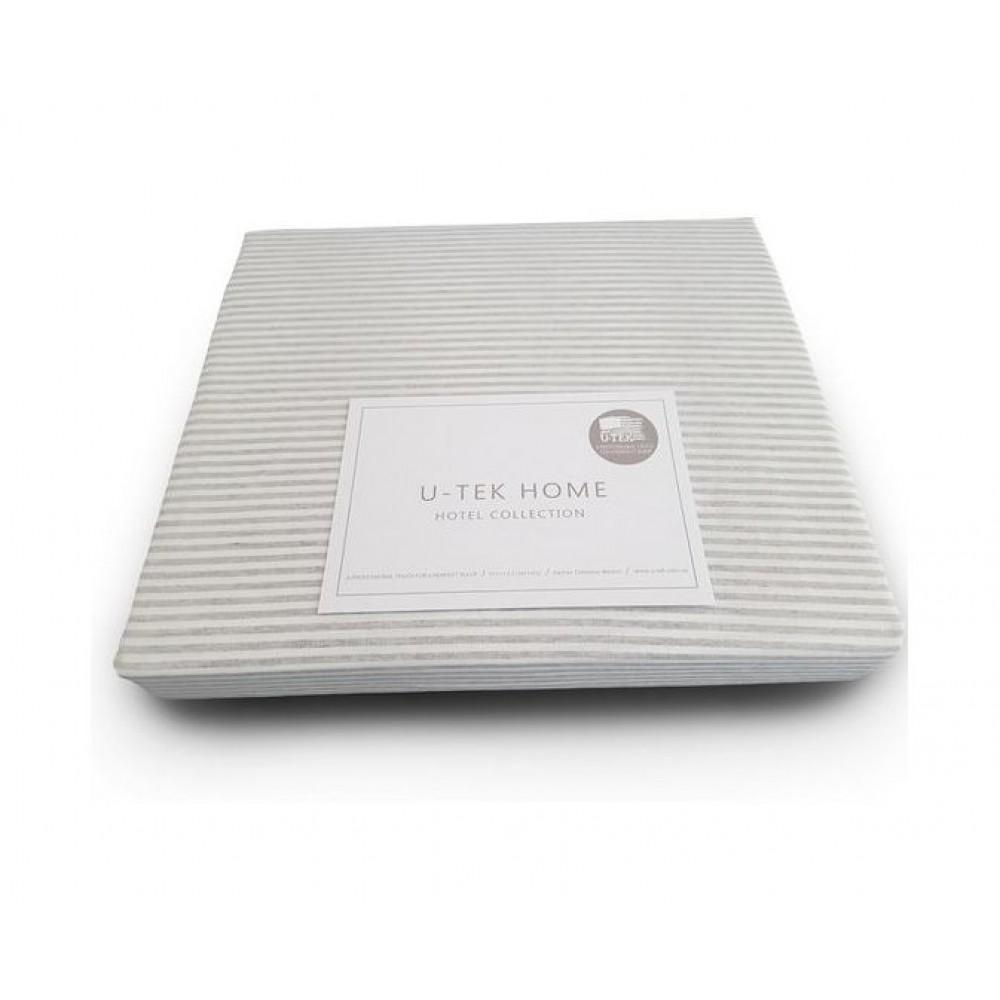 Простынь натяжная U-TEK Cotton Stripe Grey 10