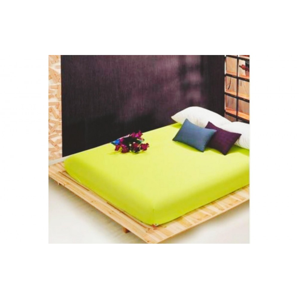 Простынь classic Home Collection Cotton Lime