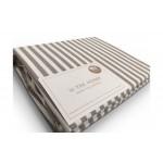 Простынь натяжная U-TEK Cotton Stripe Cacao 30