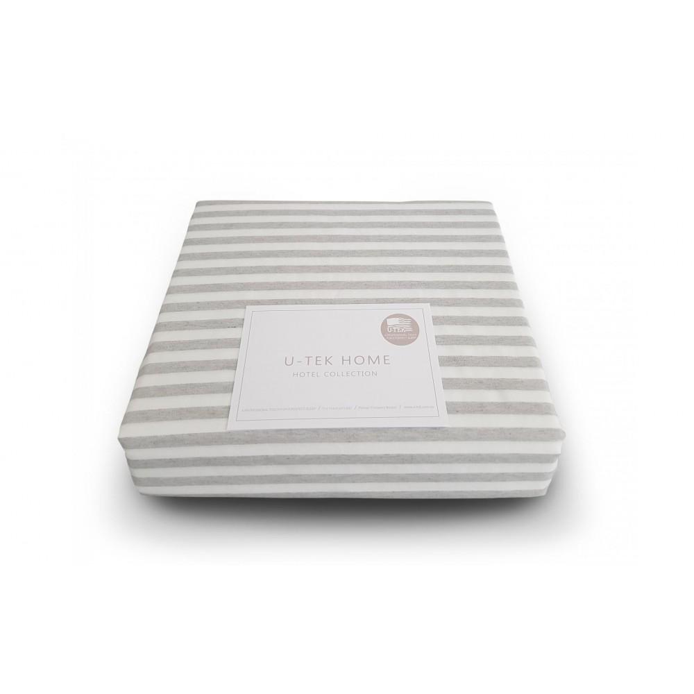 Простынь натяжная U-TEK Cotton Stripe Grey 30