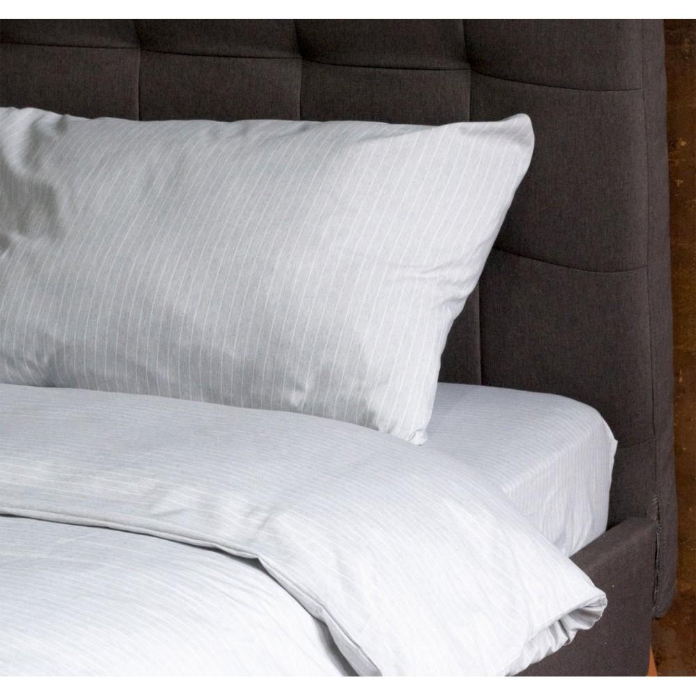 Простынь натяжная U-TEK Cotton Stripe Grey-White