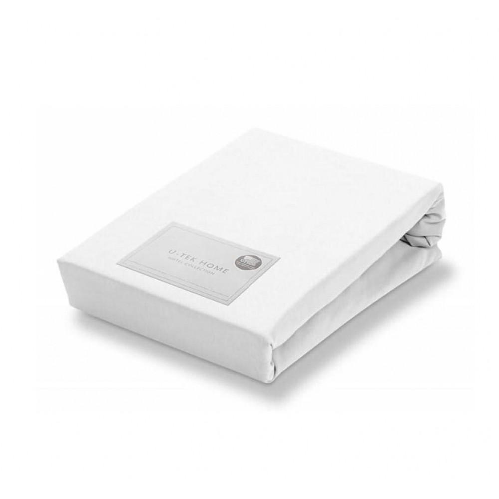 Простынь натяжная U-TEK Collection Cotton White