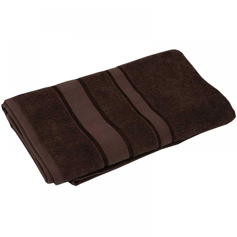 Полотенце махровое 50x90 коричневый